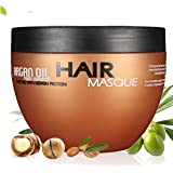 Skymore Organic Moroccan Argan Oil Hair Mask, 100% Natural Glycerine Oil,Hydrating Nourishing Treatment,Deep Conditioner For Dry Damaged Hair/Dry Hair/Greasy Hair/Curly Hair/Coloured Hair
