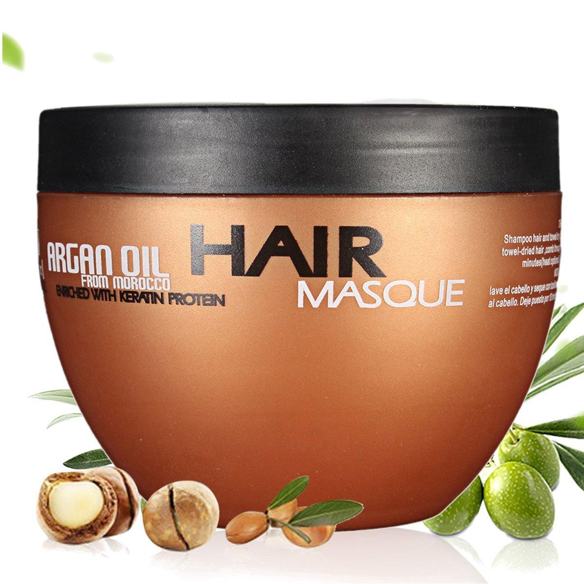 Skymore Argan Oil Haar-Maske, Marokko Öl Haarcreme, Conditioner für intensive Haarpflege, mit Arganöl und Mandelöl,Hitzeschutz Haare,1er Pack(1x250ml) Marokko Öl Haarcreme Wispury