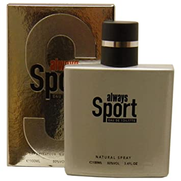 Cosmo Designs Always Sport Eau De Toilette Spray Perfume for Men, 3.4 oz