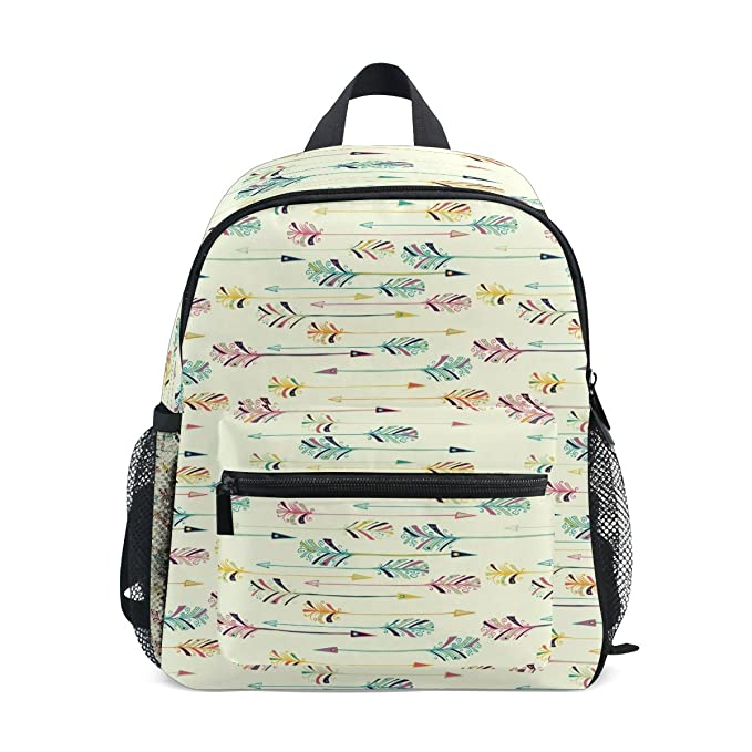 842ca498d56 Image Unavailable. Image not available for. Color  LORVIES Feather Arrow  Pattern Mini Kids Backpack Pre-School Kindergarten Toddler Bag