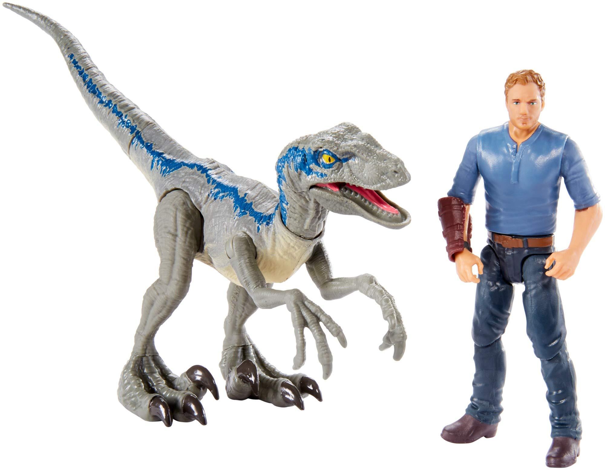 Jurassic World Velociraptor ''Blue'' & Owen Figure Pack