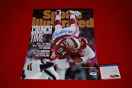 BRENT JONES sports illustrated san francisco 49ers signed 11x14 - PSA DNA  Certified - Autographed a6076501a