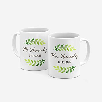 Amazon Mr And Mrs Couple Matching Coffee Mug Gifts With Your