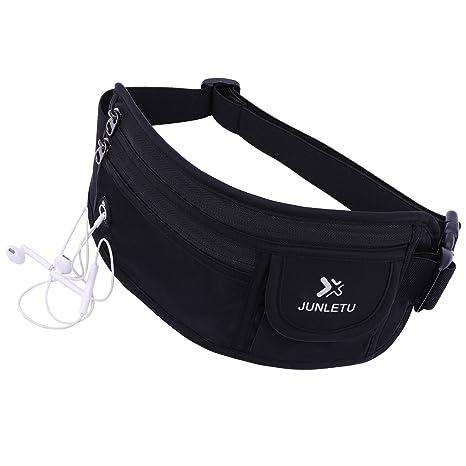 4a6a7adf87ef JUNLETU Waist Pack Lightweight Unisex Running Belt Waterproof Bag with  Headphone Hole Workout Pouch