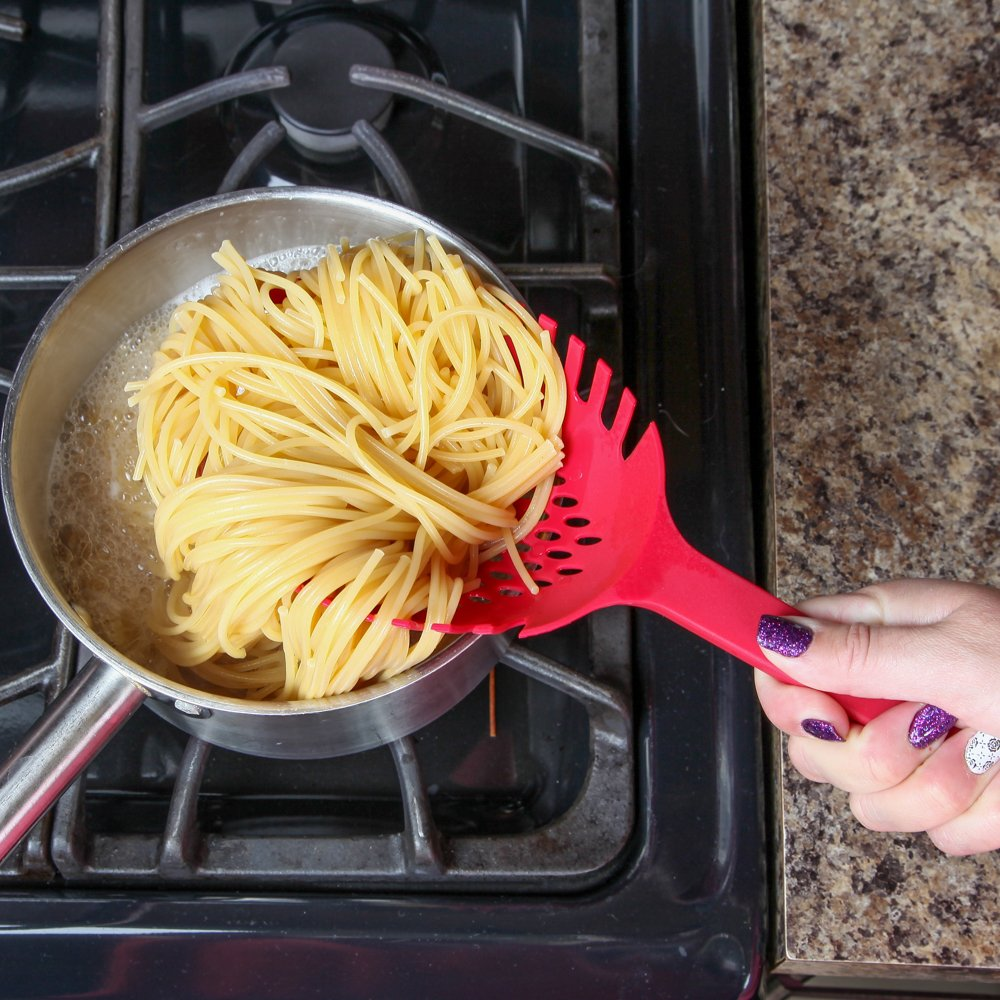 Home-X Extra-Deep Pasta Spoon Strainer