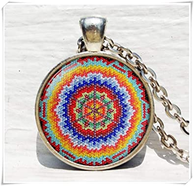 1be9a6282548b Amazon.com: no see long time Mexican Ornamental Necklace, Mexican ...