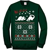 Star and Stripes Christmas Two Dinosaur Ugly Long Sleeve Sweatshirt Jumper Funny Printed Sweatshirts, Jumpers, Sweaters