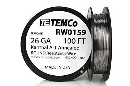 26 Gauge Wire >> Temco Kanthal A1 Wire 26 Gauge 100 Ft Resistance Awg A 1 Ga