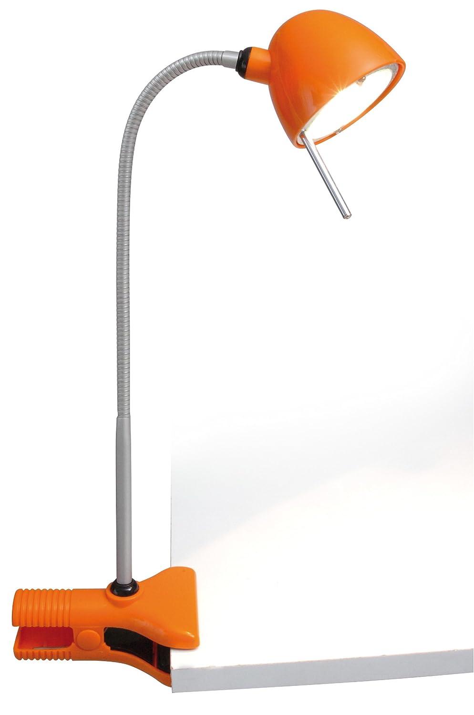 2000 h Naeve Leuchten Klemmleuchte mit Flexarm 1 x G4 35 cm orange 407998 20 W Max 50 cm inklusiv Leuchtmittel inklusiv Trafo 35 mm Metall 2750 K 12 V /ø 8 mm 270 lm Energieeffizienzklasse C Max 20 Watt Kunststoff