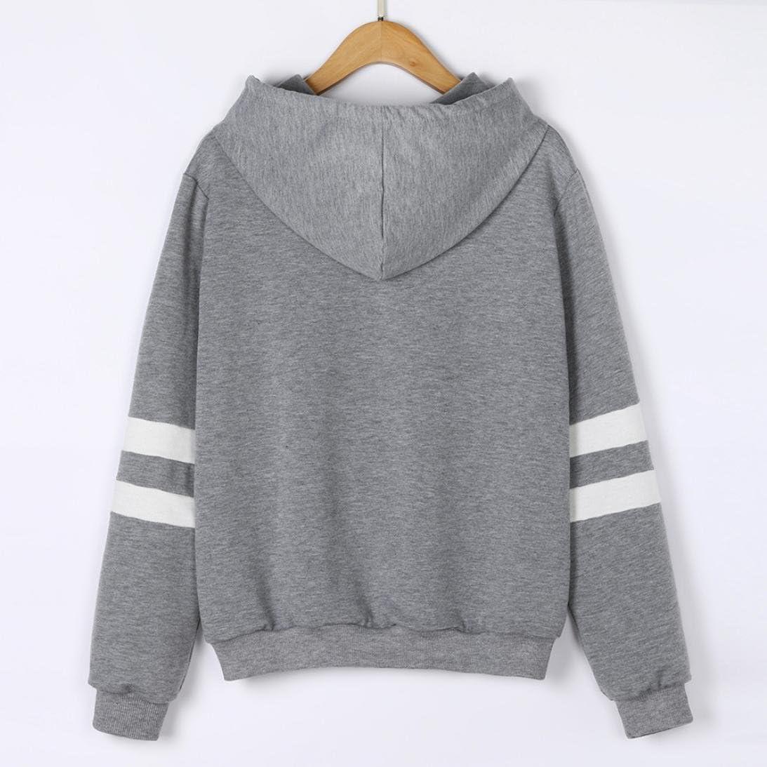 KaloryWee Womens Planet Print Hoodie Sweatshirt Long Sleeve Jumper Hooded Pullover Tops Blouse