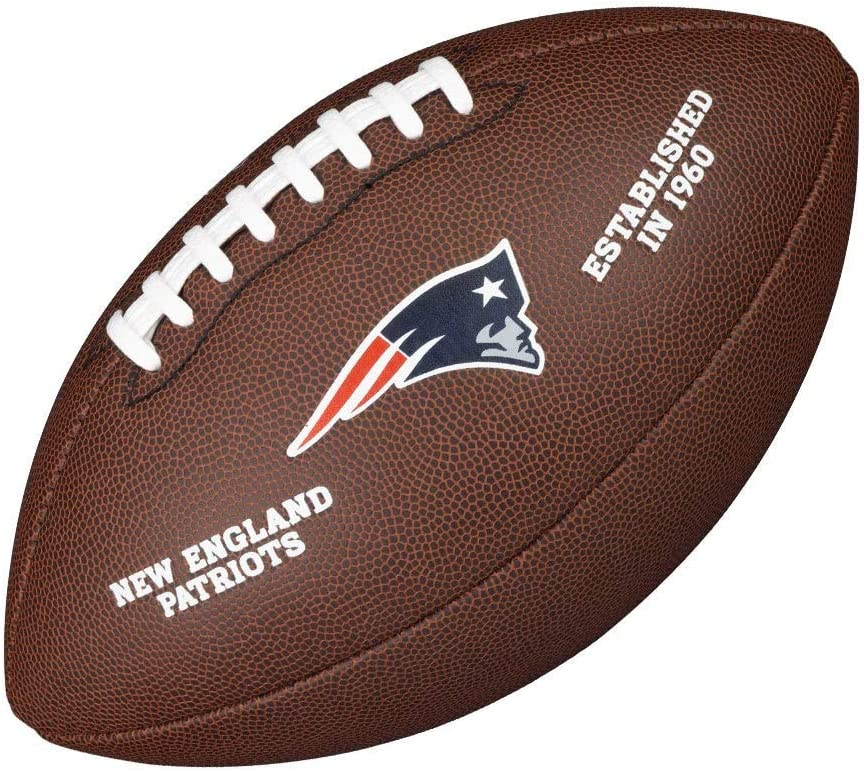 Wilson WTF1748XBNE Pelota de fútbol americano Team Logo Composite ...