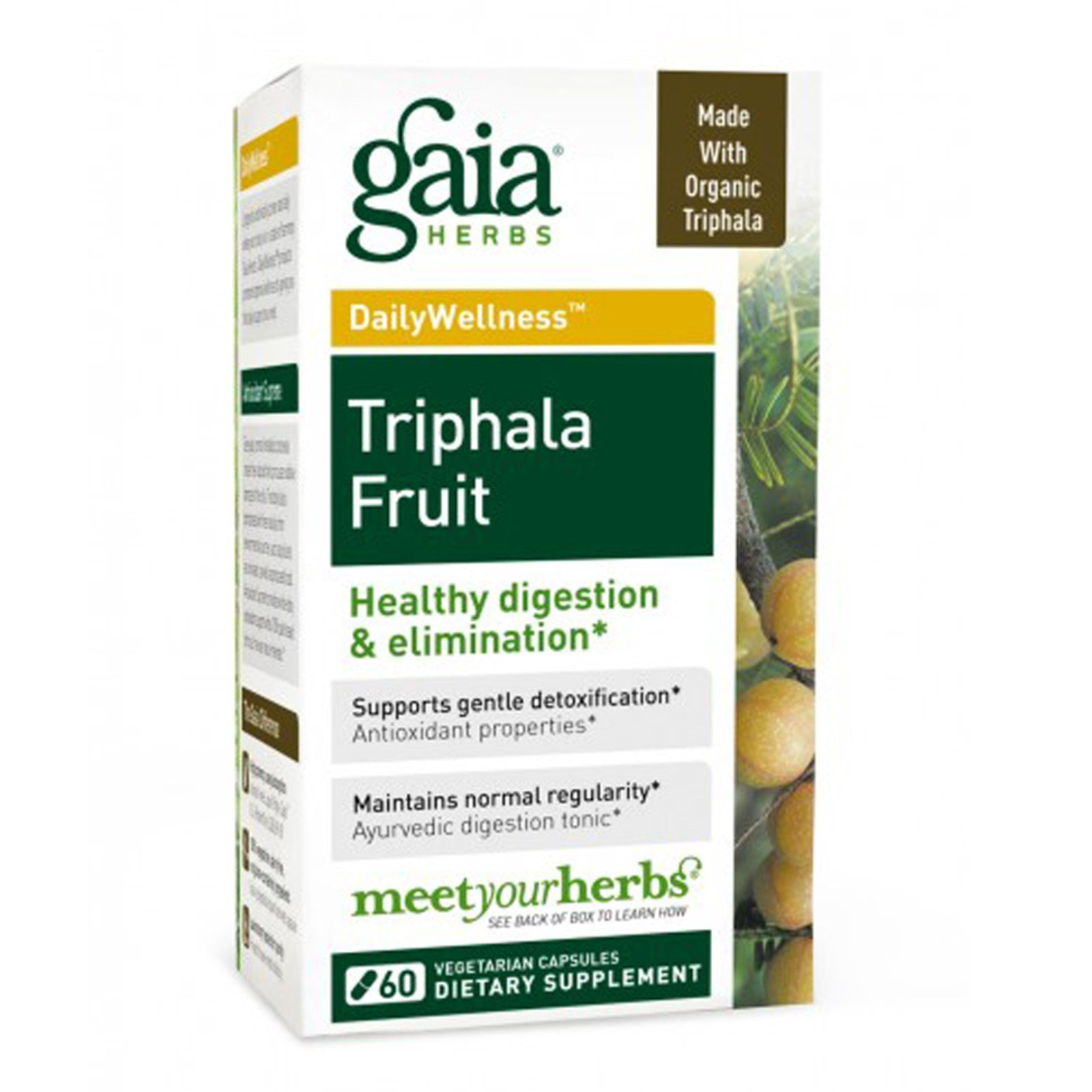 Gaia Herbs, Triphala Fruit, 60 Veggie Caps - 2pc