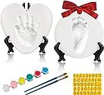 Baby Handprint Footprint Keepsake Ornament Kit-Luxury Clay Casting Kit for Newborn