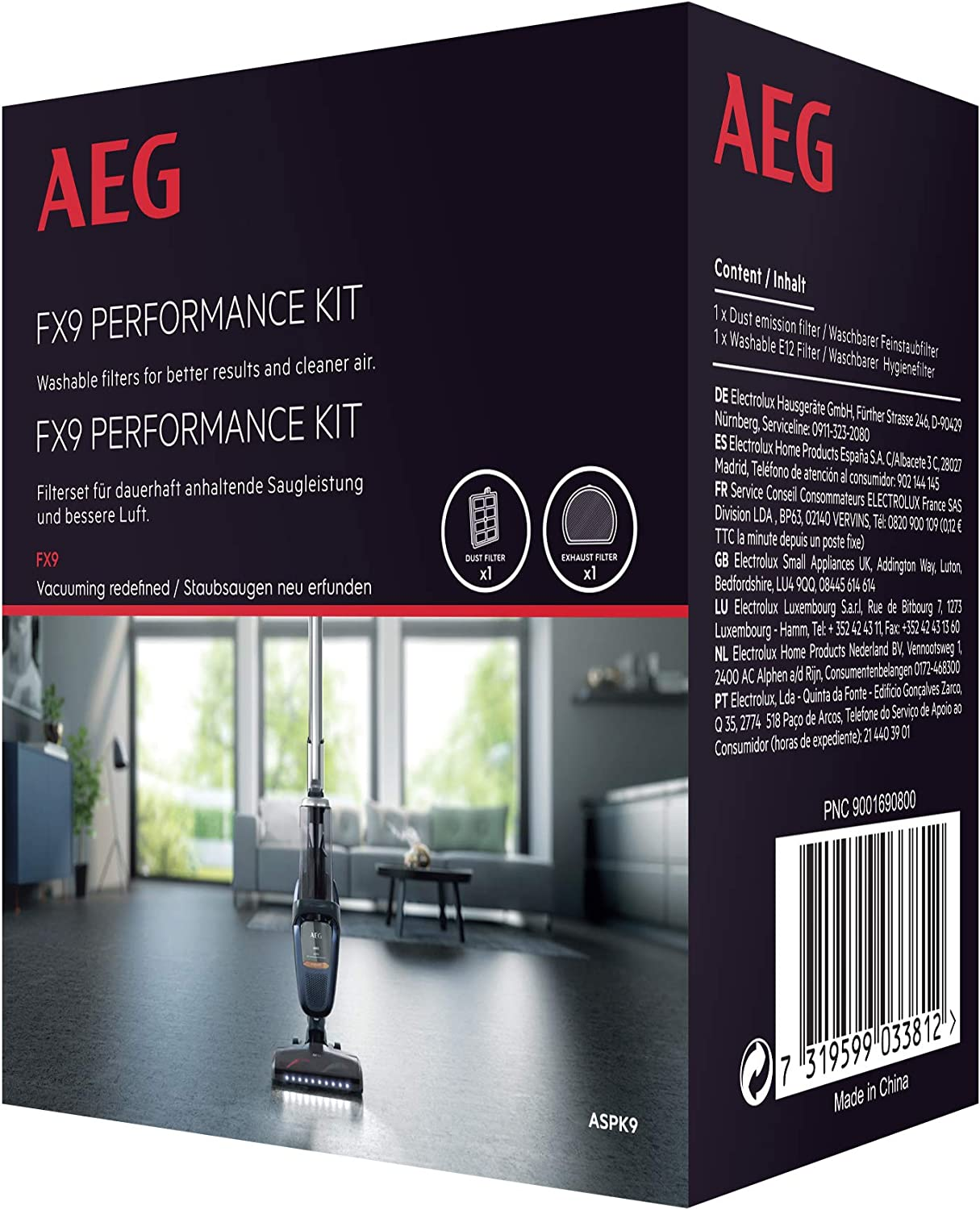 AEG ASPK9 - Pack de 2 filtros, Compatible FX9 X Ultimate: Amazon ...