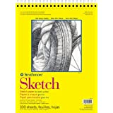 Strathmore 300 Series Sketch Pad, 11x14, Wire Bound, 100 Sheets