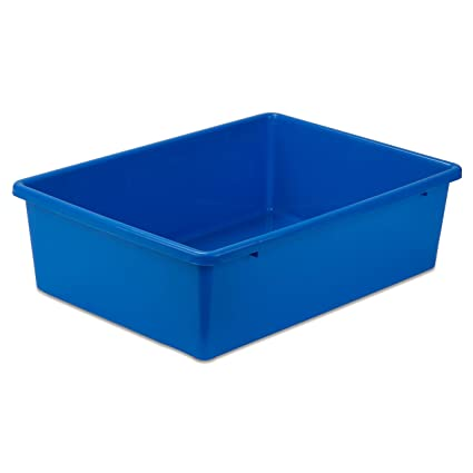 Attrayant Honey Can Do PRT SRT1602 LGBLU Plastic Storage Bin, Large,