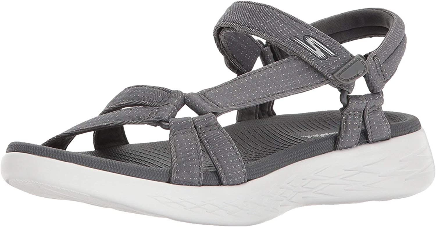 Skechers On The Go 600-Brilliancy, Sandalia con Pulsera para Mujer