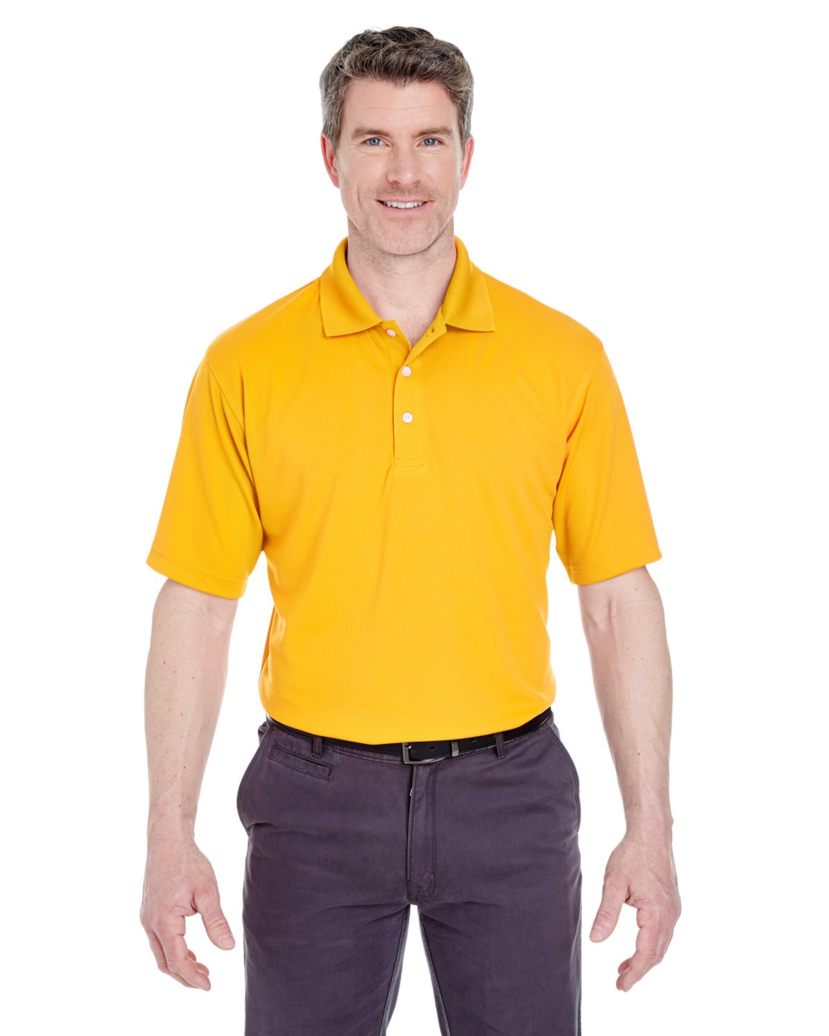 8445 UC MEN STAIN RELEASE PERF POLO GOLD 3XL UltraClub