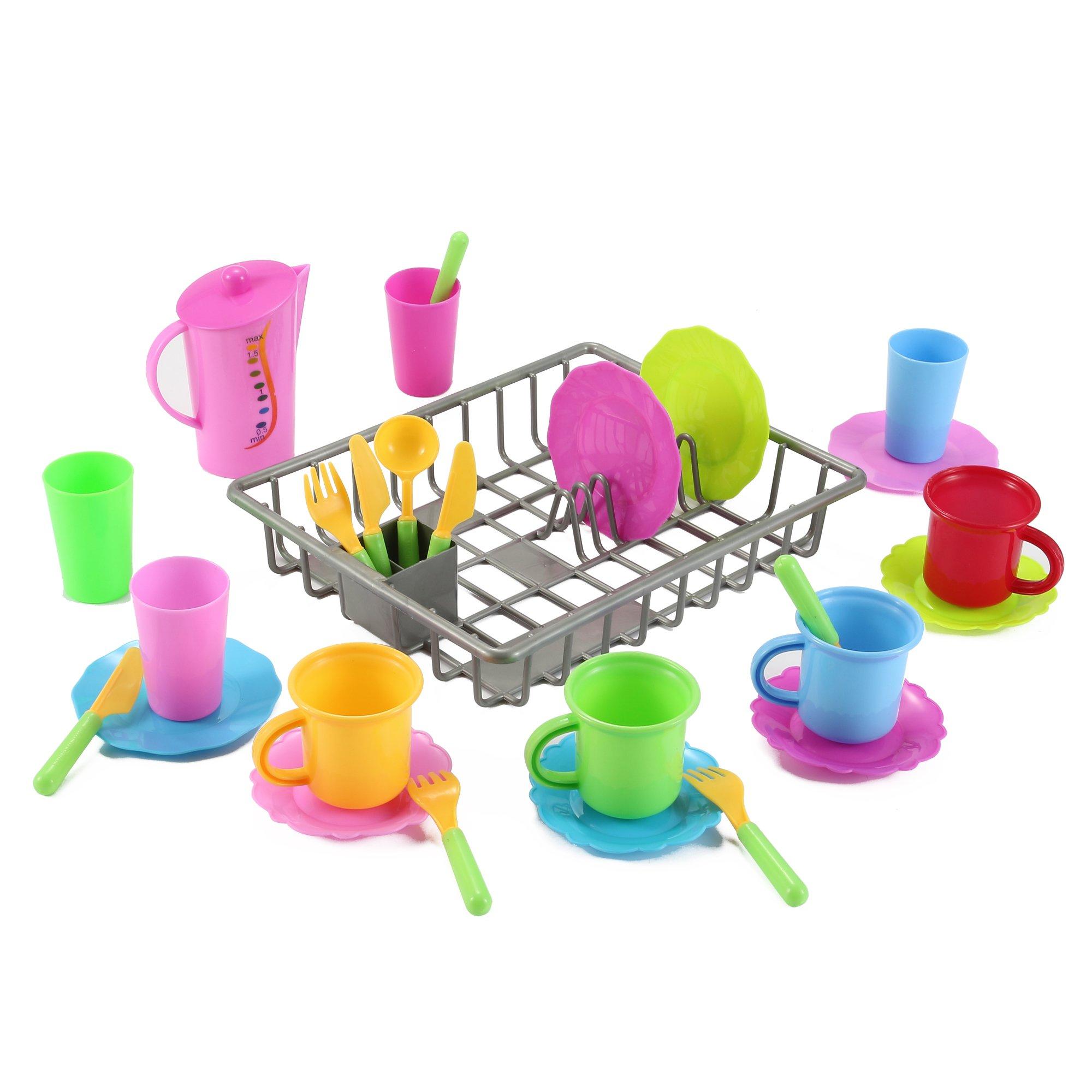 Pretend Play Kitchen Dishes Toy Children Plastic Accessories 27