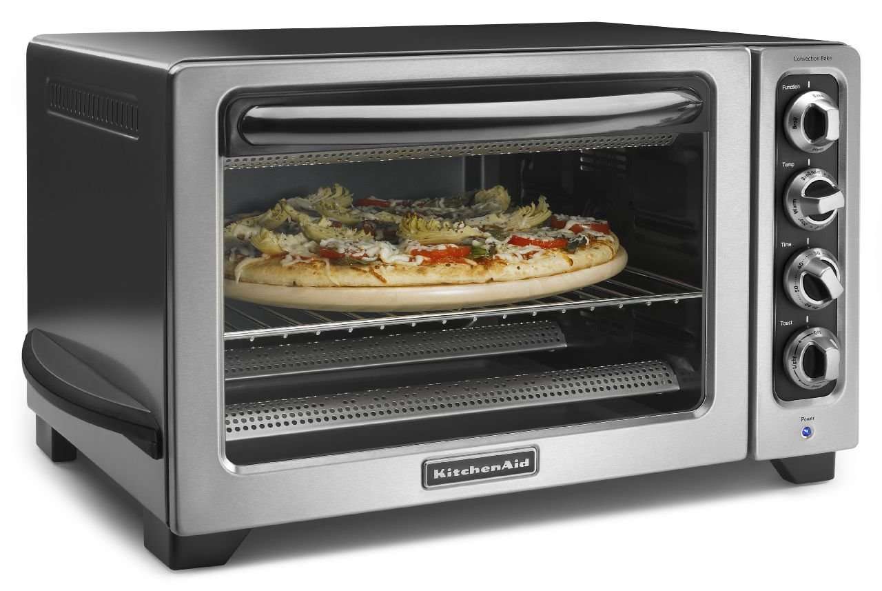 KitchenAid KCO234CCU 12'' Convection Countertop Oven, Contour Silver