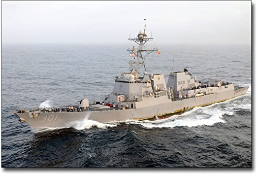 NAVY GUIDED-MISSILE DESTROYER USS GRIDLEY 8x12 SILVER HALIDE PHOTO PRINT U.S