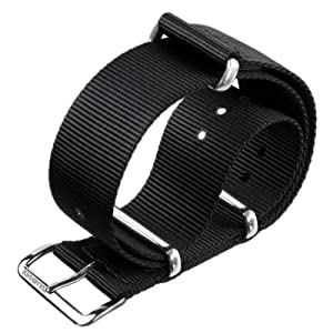 NATO G10 ZULUDIVER¨ Black Nylon Military Watch Strap with a choice of Buckle Finishes