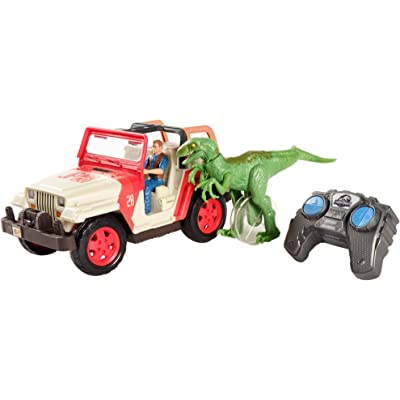 Jurassic World Jeep Wrangler RC Vehicle: Toys & Games