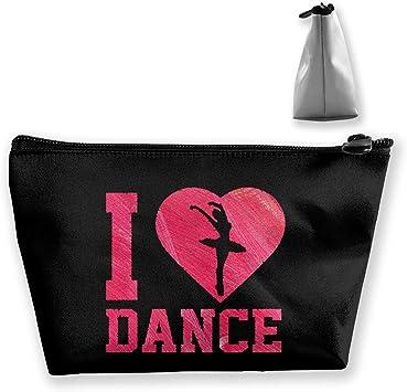 I Heart Dance Pen Papelería Estuche de lápices Estuche de Maquillaje cosmético Bolsa: Amazon.es: Equipaje