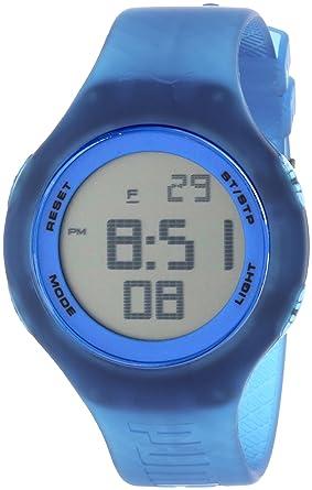 Amazon.com: Puma PU910801024 Drop Blue Digital Unisex Reloj ...