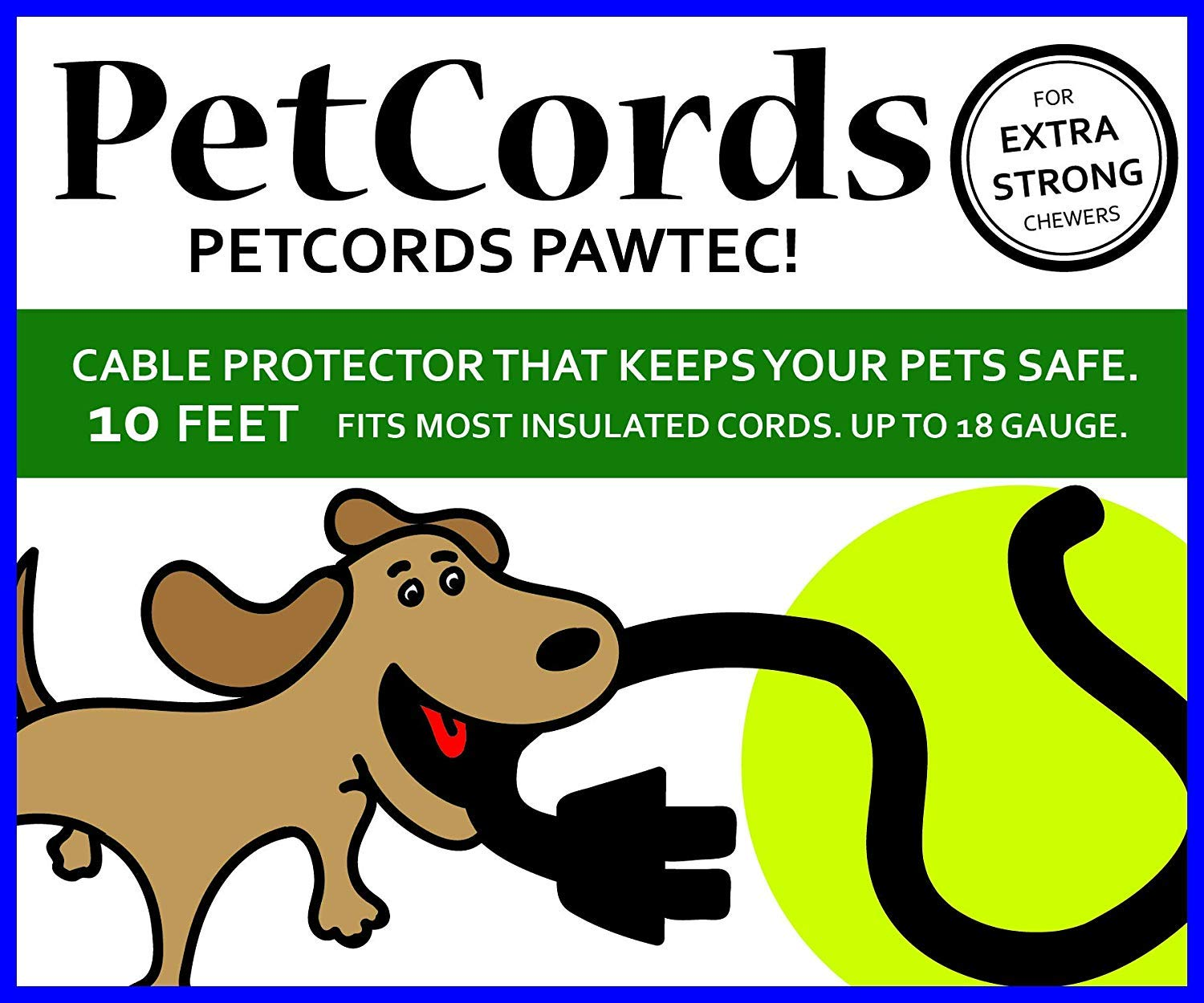PetCords Dog And Cat Cord Protector- Protects Your Pets From Chewing Through Insulated Cables, Unscented, Odorless (HEAVY DUTY-10FT, CLEAR (3 METERS))