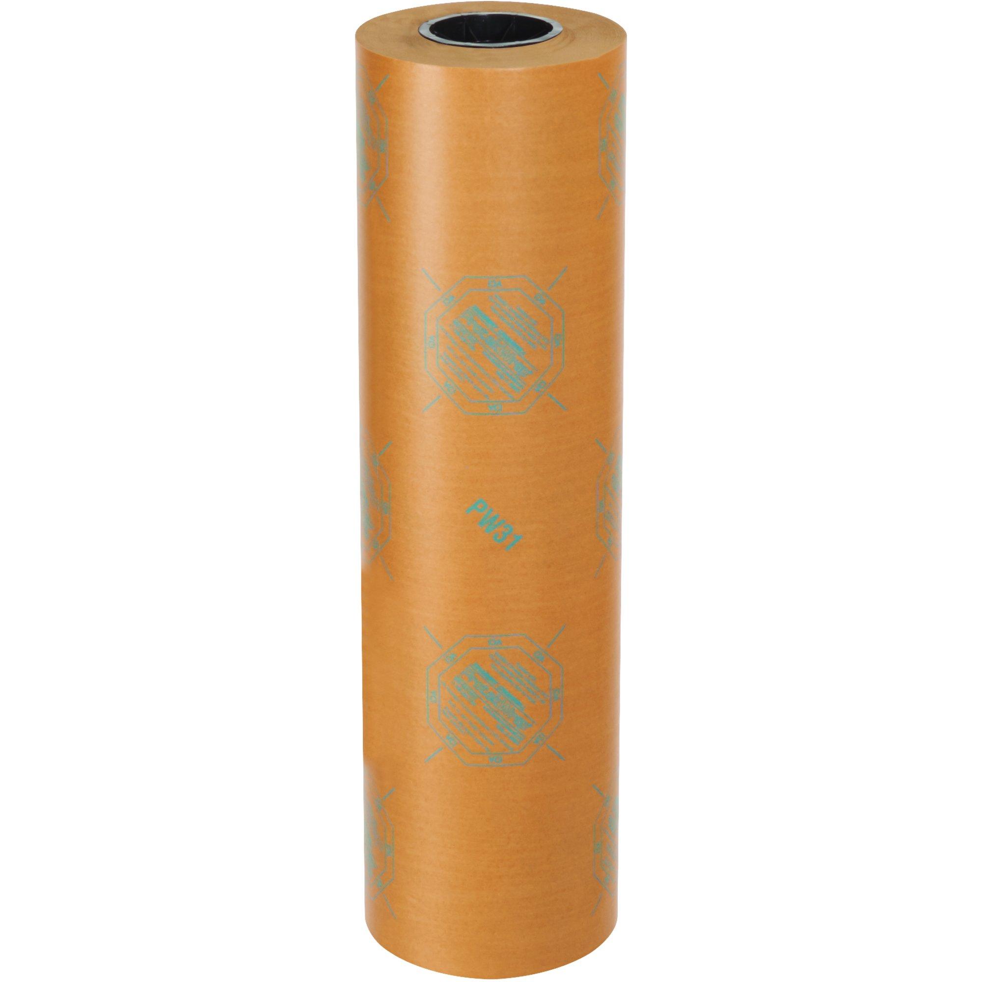 BOX USA BVCI24WAX 30# VCI Paper, Waxed Industrial Rolls, 24'' x 200 yd, Kraft by BOX USA