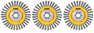 DEWALT DW4930 4-Inch by 5/8-Inch-11 Full Cable Twist Wire Wheel/Carbon Steel .020-Inch (3)