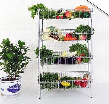 Yxx max *Carrito verdulero Cocina Estante de la Fruta y verdura Estante Acabado de Cocina Rack Hot Pot Home: Amazon.es: Hogar