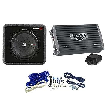 """Kicker 40 vcwr122 12 """"Subwoofer + 3000 W amplificador kit de cableado y ("""