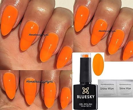 Blue Sky Neon 29 vives Orange Vernis à ongles gel UV LED Soak Off 10 ml