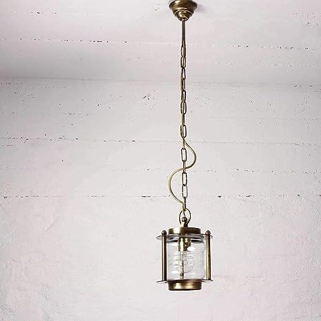 Premium - Lámpara de techo Real latón E27 Max. 18 W Jardín ...