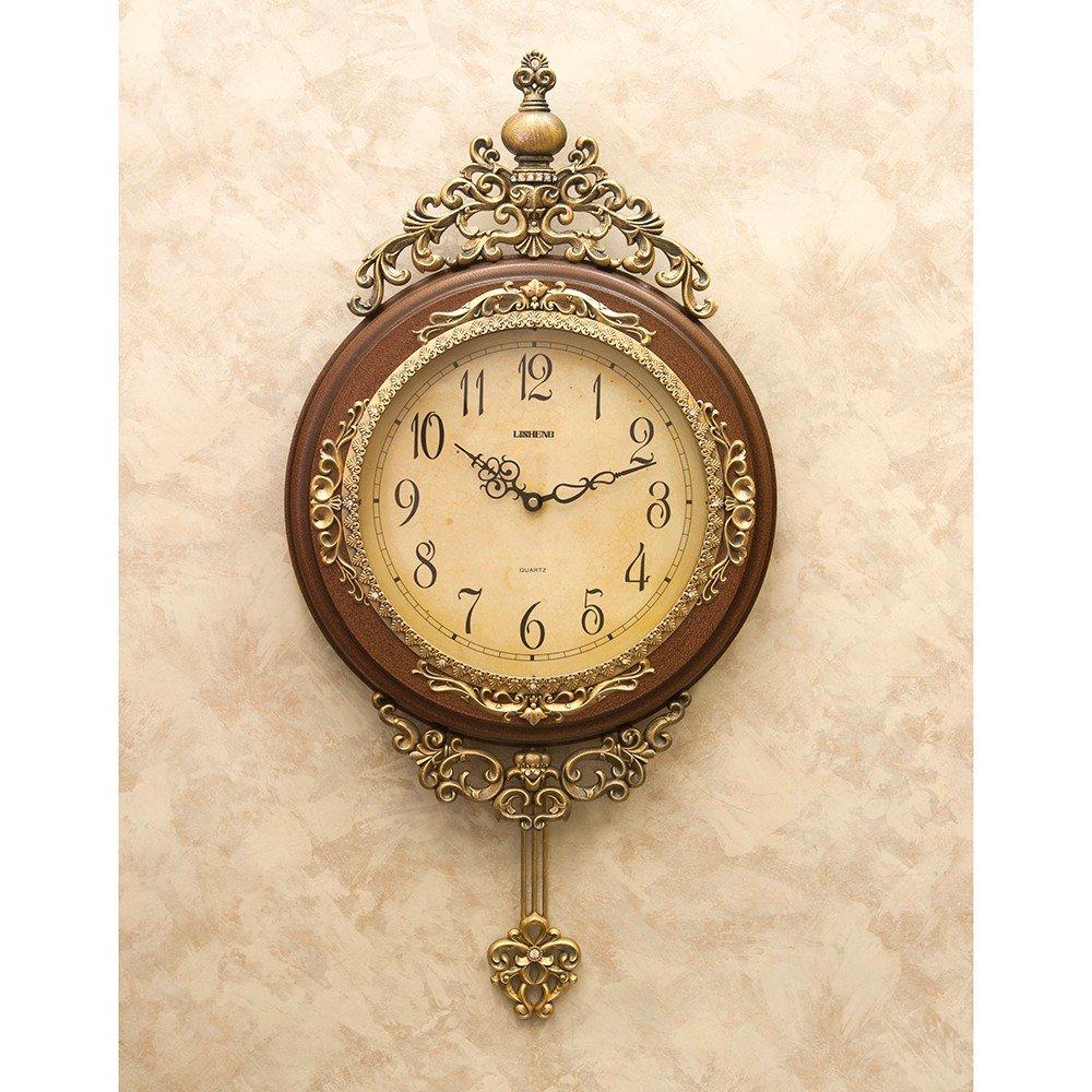 ウォールクロック 1ランク上のインテリアを目指すあなたに アンティーク 壁掛時計 ブラウン B00Q89F6C4