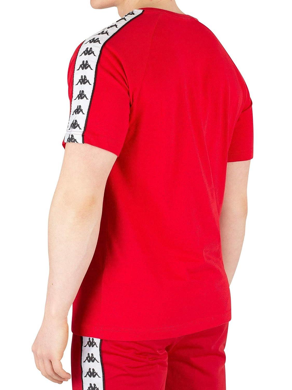 3c9ae075 Amazon.com: Kappa Banda Coen T-Shirt | Red/White: Clothing