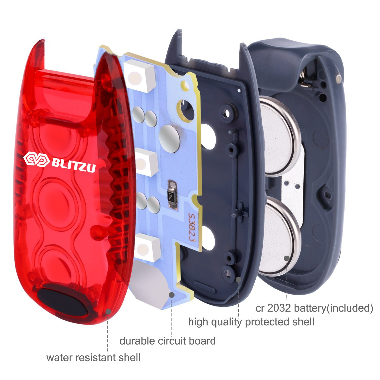Dogs Joggers Free Bonuses Nighttime Bike Bicycle Cycling Tail Light Accessories for Your Reflective Gear Night time BLITZU Cyborg LED Safety Light 2 Pack Walking The Best Accessories Your Reflective Gear Clip On Running Lights Runner Kids