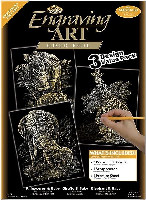 Silver Royal Brush and Langnickel Engraving Art 3 Design Value Pack