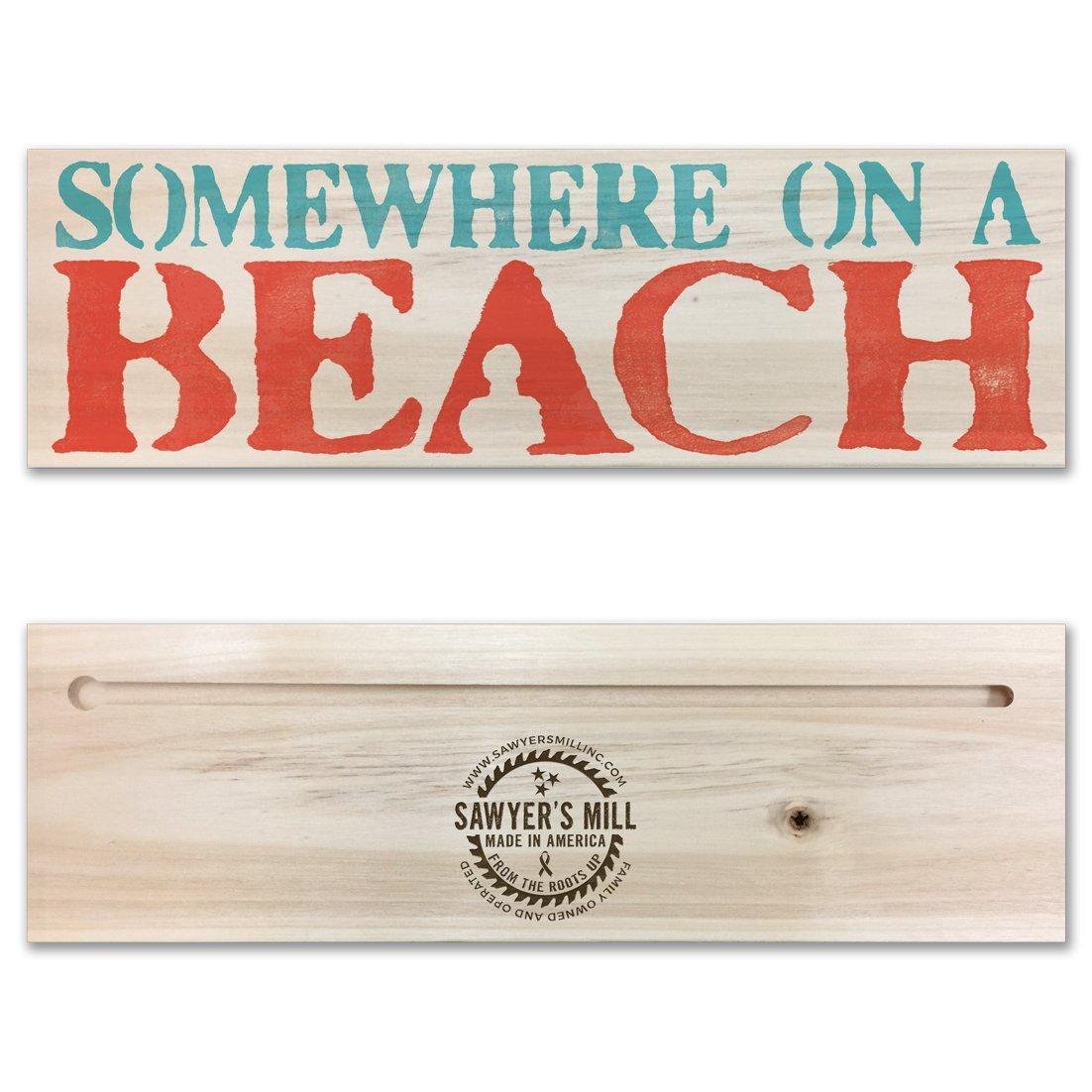 7637eea6f2e345 Amazon.com  Somewhere On A Beach - Handmade Wood Block Sign Inspired by  Dierks Bentley.  Handmade