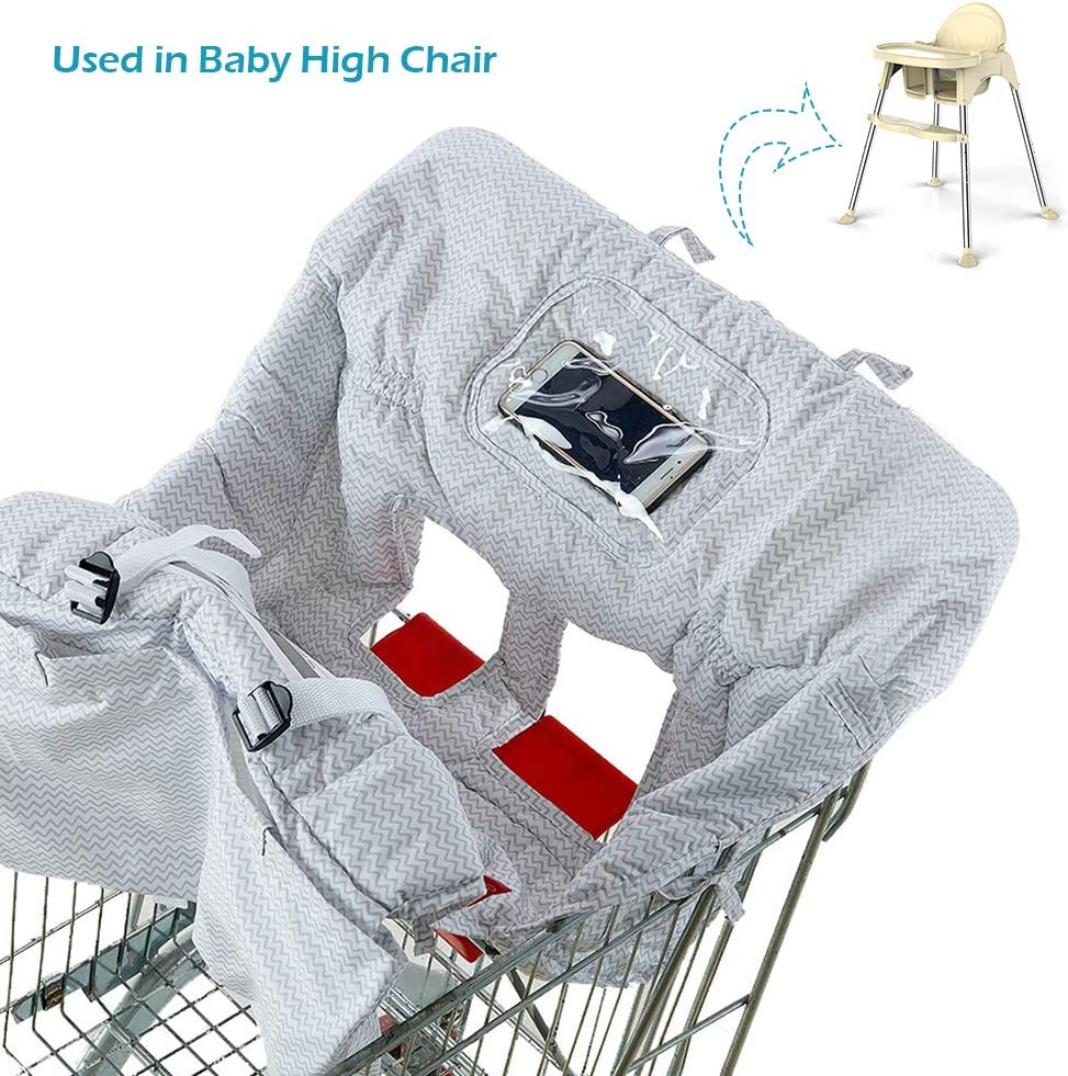 Shopping/Cart/Covers/for/Baby/Boy Girl Jhua 2/in/1 High/Chair/Cover/and/Baby Shopping/Cart/Cover Gra Universal Size Portable Cotton Baby/Seat/Cover with Bag for Kids and Toddlers
