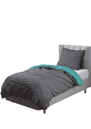 Bettwäschegarnituren Bettwäsche Biber Baumwolle 135x200 Schlicht