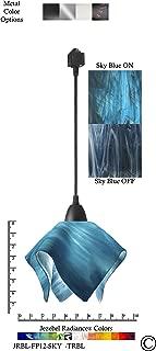 product image for Jezebel Radiance JRBL-FP12-SKY-TRBL Black Flame Track Light, Small, Sky Blue