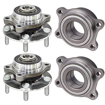 Bodeman - (4) Front and Rear Driver Passenger Side Wheel Hub and Bearing Assembly for 2003-2008 Nissan 350Z: Automotive