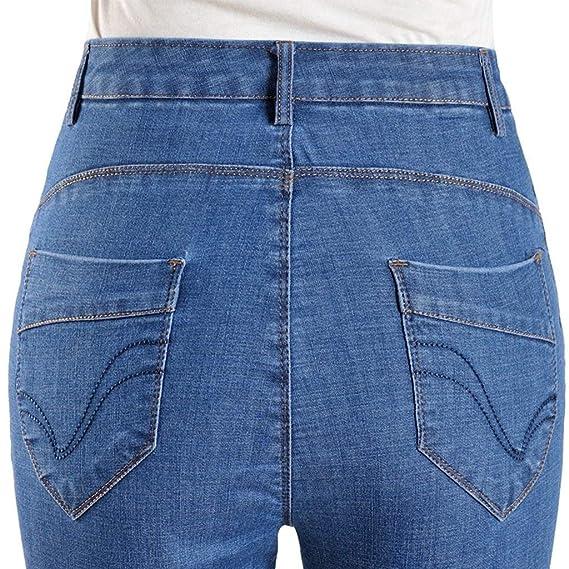 Pantalones Vaqueros Mujer Cintura Alta Suelta De Pantalones Campana  Pequeños Sección Verano Pantalones Joven De Mediana Edad Y Mayores Pantalones  Pantalones ... 29c2413ab4db