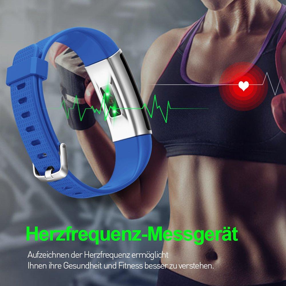 Fitness Tracker HR, tigerhu Fitness pulseras multicolor pantalla ...