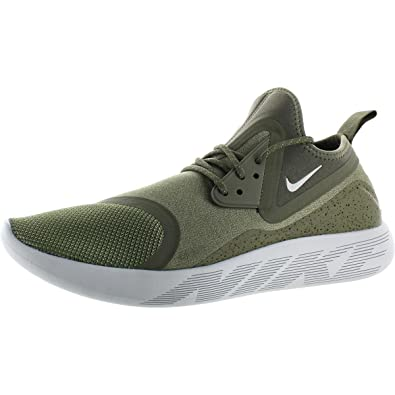 50dc686c9c24 Image Unavailable. Image not available for. Color  Nike Mens Lunarcharge  Essential Round Toe Running Shoes Green 11.5 Medium ...