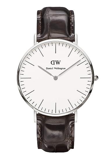 Daniel Wellington Reloj York Hombre Sólo el Tiempo Piel Marrón - 0211DW: Daniel Wellington: Amazon.es: Relojes