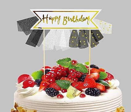 Awe Inspiring Buy Amfin Happy Birthday Cake Topper With Skirt For Birthday Personalised Birthday Cards Veneteletsinfo